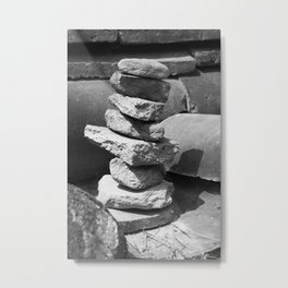 Stacked Rock Pile Metal Print