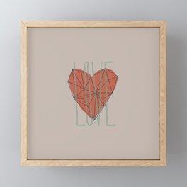 Love art pattern Framed Mini Art Print