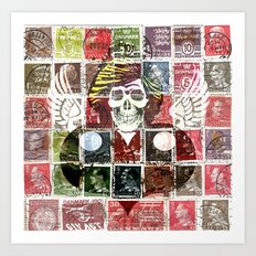 Dead Princess over Stamps Art Print