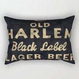 Old Harlem Lager Beer vintage advertisment poster Rectangular Pillow