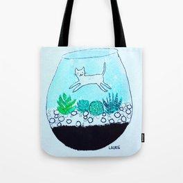 Terrarium Cat Tote Bag