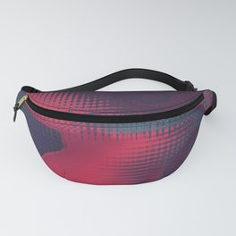 Abstract pixel background 147 Fanny Pack