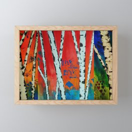 Birch Tree Stitch Framed Mini Art Print