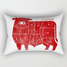 carne Rectangular Pillow