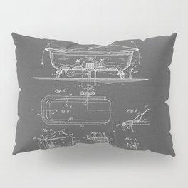 Rocking Oscillating Bathtub Patent Engineering Drawing Pillow Sham
