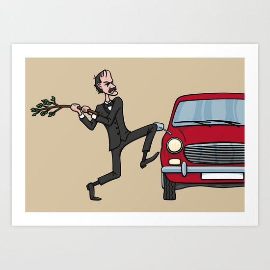 Basil's Fury Art Print