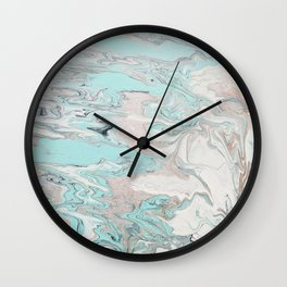Marble - Mint Wall Clock