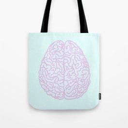 Pastel Brain Tote Bag