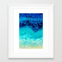 crystal Framed Art Prints featuring INVITE TO BLUE by Catspaws