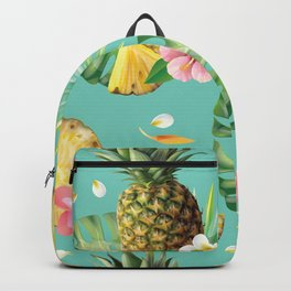 Kitschy Tropical Fruit Print Backpack
