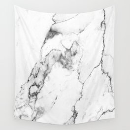 White Marble I Wall Tapestry