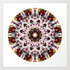 Donkey Flower Kaleidoscope  Art Print