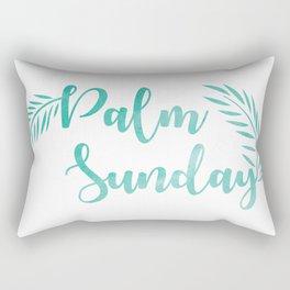 Palm Sunday Leaves Rectangular Pillow