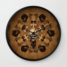Awesome skull Wall Clock