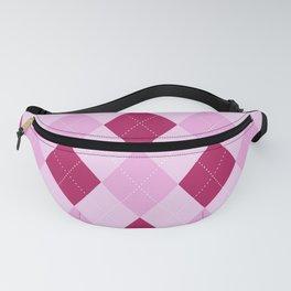 Pink Argyle Pattern Fanny Pack