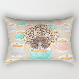 Echidna Drinking Tea Rectangular Pillow