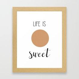 Life Is Sweet Stroopwafel Framed Art Print