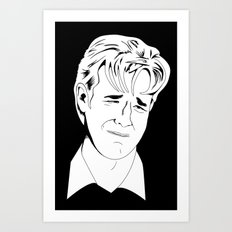 Crying Icon #1 - Dawson Leery - Black & White Variant Art Print