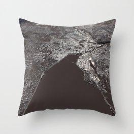 Geneva - city map Throw Pillow
