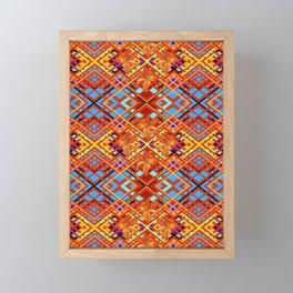 Tiger Lily Plaid Framed Mini Art Print