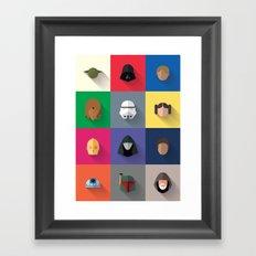 Icon Set Minimalist Poster Framed Art Print