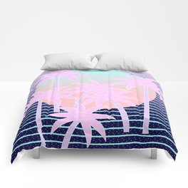 Hello Miami Moonlight Comforters
