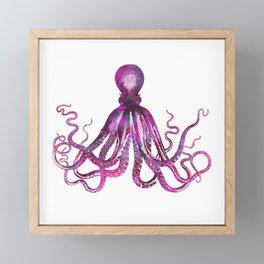 pink Octopus unique underwater creature Framed Mini Art Print