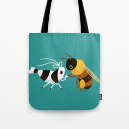 Bee & bee shrimp Tote Bag