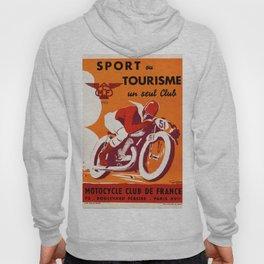Motorcycle Club de France - Vintage Poster Hoody