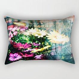 Flower and glass Rectangular Pillow