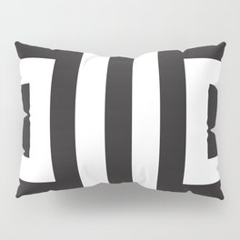Black Greek Stripes Pillow Sham
