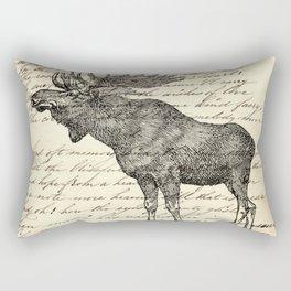 western country primitive winter mountain animal wildlife moose Rectangular Pillow