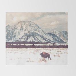 Bison & Tetons Throw Blanket