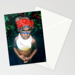 Papua New Guinea Child At Sing Sing With Headdress Stationery Cards