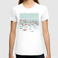 mountain T-shirts featuring Sea Recollection by Efi Tolia