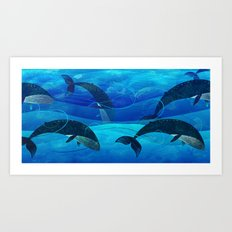 Tropical waters Art Print