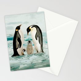 Emperor Penguin Family Stationery Cards