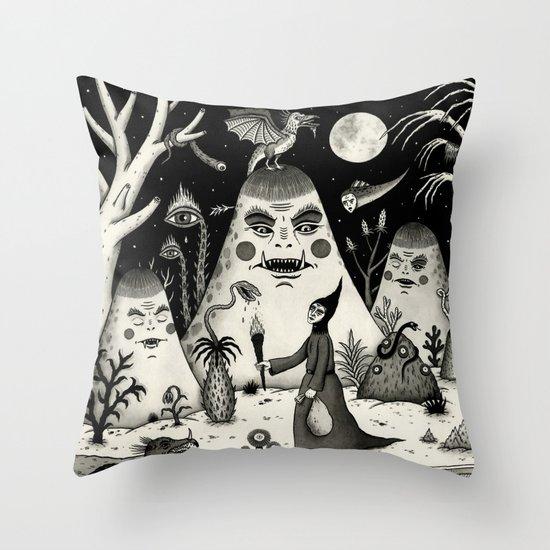 Outcry of the Island Throw Pillow