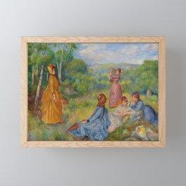 """Auguste Renoir """"Jeunes filles jouant au volant"""" Framed Mini Art Print"""