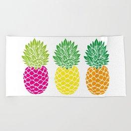 Pineapple Trio Beach Towel