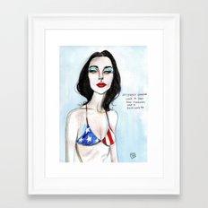 PJ HARVEY Framed Art Print