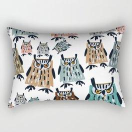 King Owl pattern Rectangular Pillow