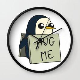 Penguin - Hug Me ! Wall Clock