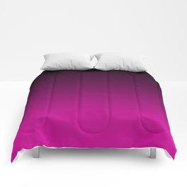 Black and Magenta Gradient Comforters