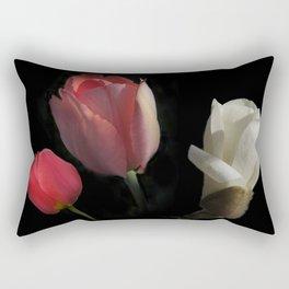 three beauties on black Rectangular Pillow