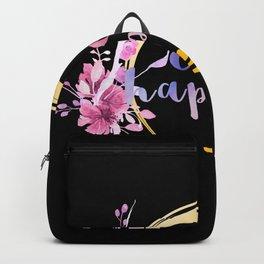 Purple Watercolor Choose Happiness HEISE Backpack