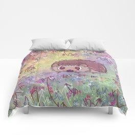 Happiest Little Hedgehog Comforters