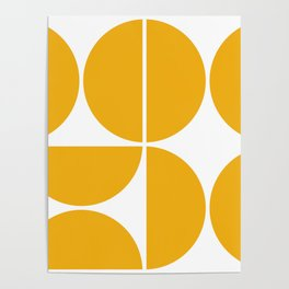 Mid Century Modern Yellow Square Poster