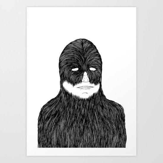 Shaved Chewbacca Art Print