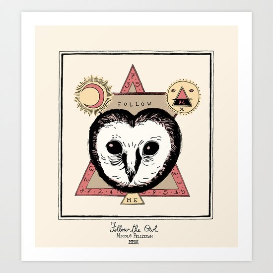 Follow the Owl Art Print